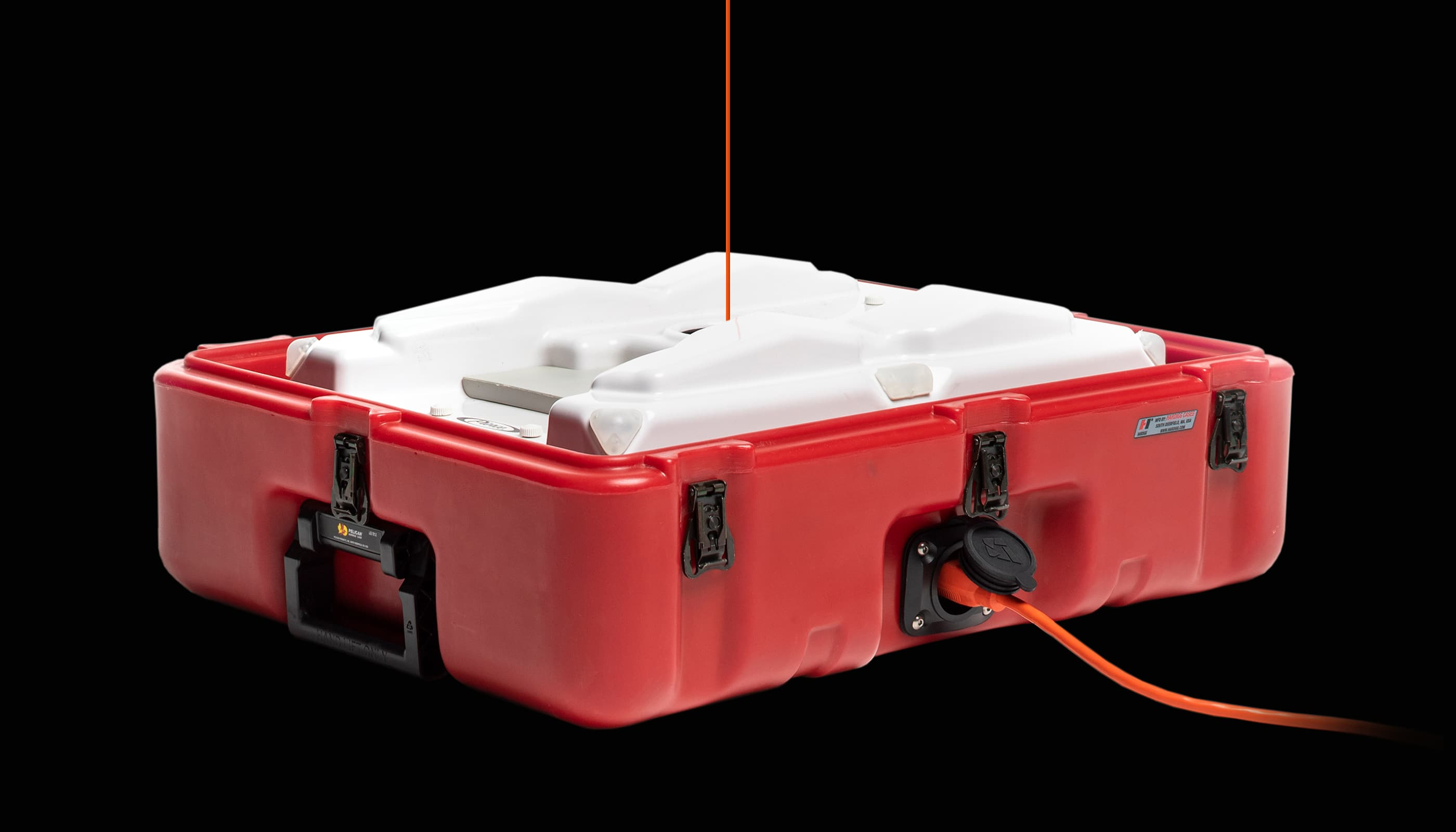 tethered UAV placed in the transport case