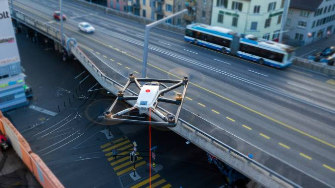 tethered drone in traffic management application